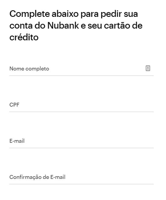 Nubank - Como solicitar o Cartão de Crédito