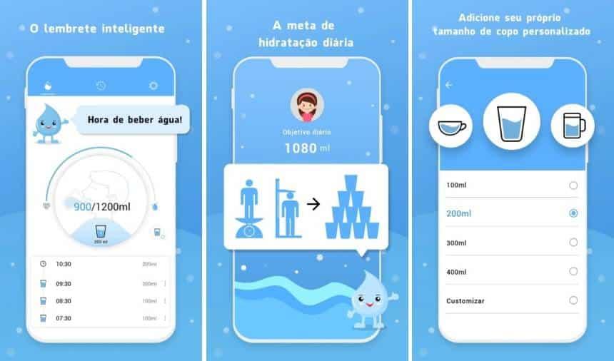 Conheça estes aplicativos para lembrar de beber água e ficar hidratado
