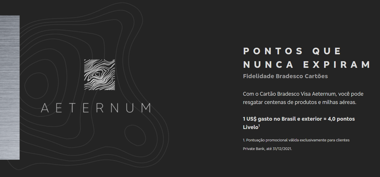 Cartão Aeternum - Saiba como solicitar