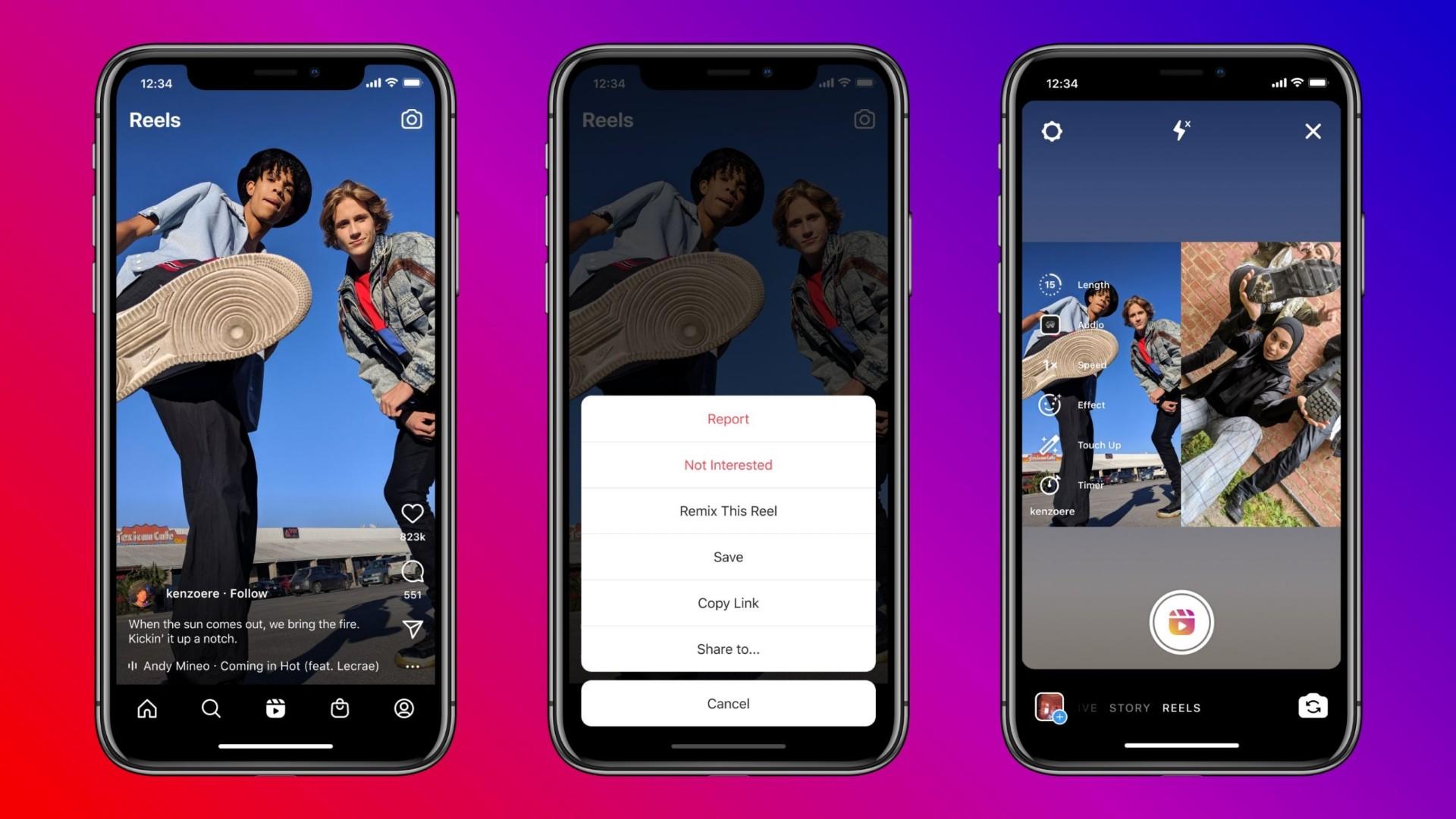 Reels do Instagram – Veja como usar todas as funções